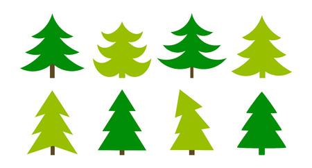 Illustration pour Christmas trees icons collection. Vector illustration - image libre de droit