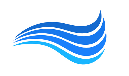 Illustration for Blue water wave symbol. Vector illustration. - Royalty Free Image