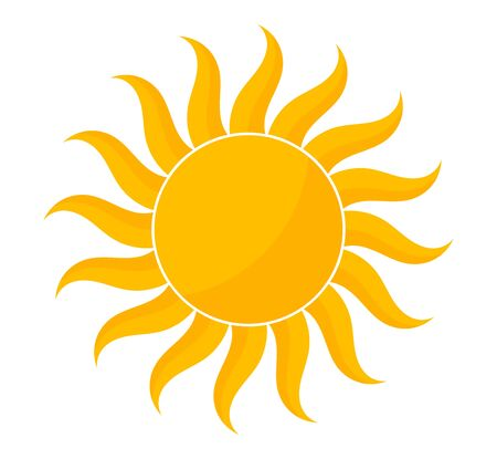 Illustration for Yellow sun shape icon. Vector illustration. - Royalty Free Image