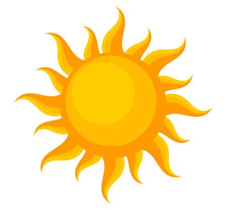 Illustration for Summer sun symbol, design element. Vector illustration. - Royalty Free Image