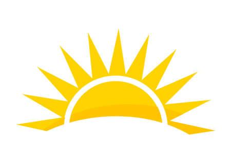 Illustration for Sunset sun icon. Vector illustration. - Royalty Free Image