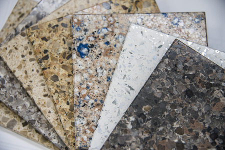 Photo for Kitchen and bath counter stone sample colors - Royalty Free Image