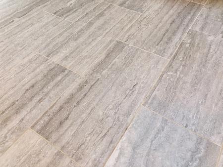 Photo pour Slate tiles installed in bathroom or kitchen as a floor. Renovation concept - image libre de droit