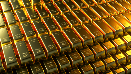 Foto de Gold bar close up shot. wealth business success concept - Imagen libre de derechos