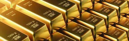 Photo pour Gold bar close up shot. wealth business success concept - image libre de droit