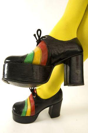 Funky retro platform shoes
