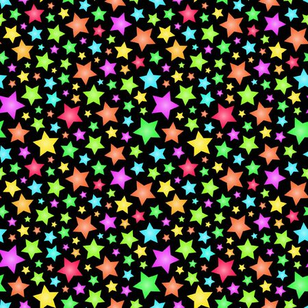 Illustration for Seamless background with stars.   - Royalty Free Image