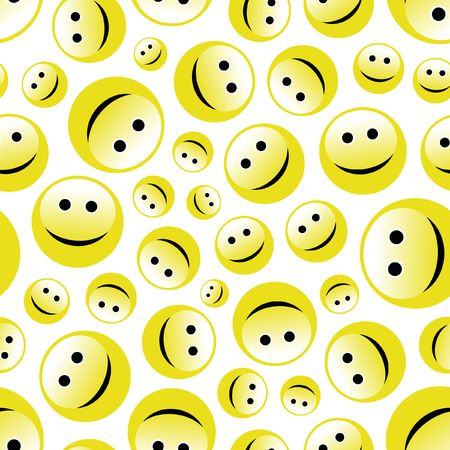 Seamless pattern with smile face.