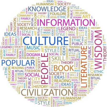 CULTURE. Word collage on white background.