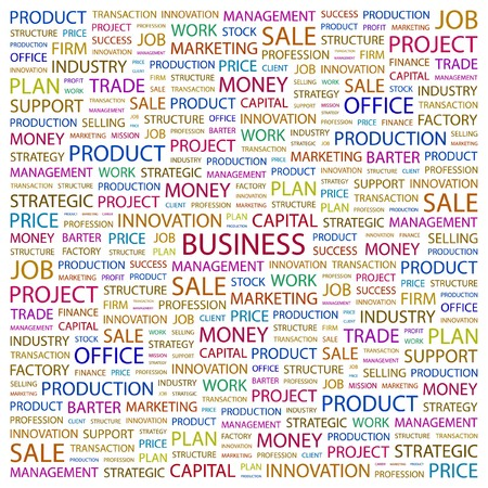 BUSINESS. Word collage on white background.  illustration.