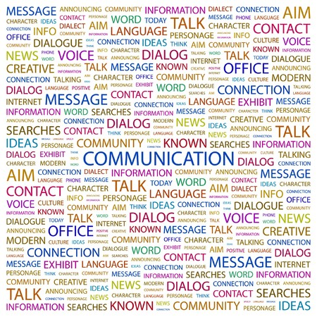 Photo for COMMUNICATION. Word collage on white background. Vector illustration.    - Royalty Free Image