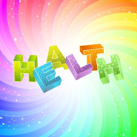 HEALTH. Rainbow 3d illustration.