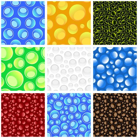 Seamless pattern with water drops. Vector illustration.
