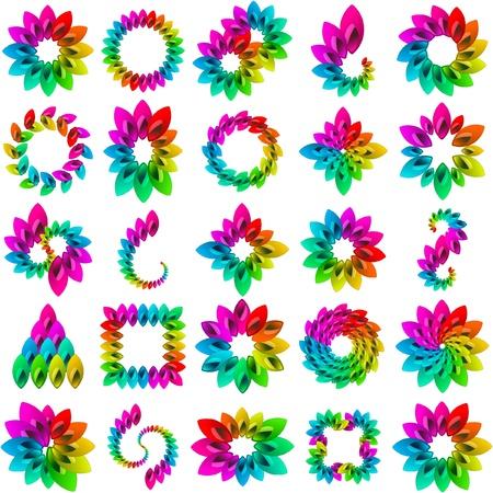 Rainbow design elements
