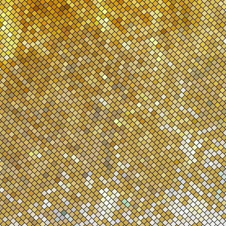 Vector golden mosaic. Abstract background.