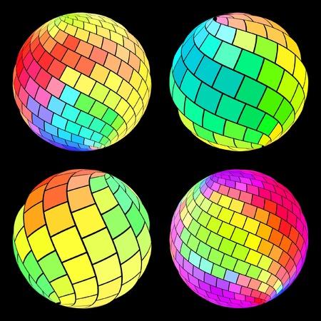 Multicolored globe illustration.