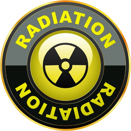 Radioactive icon. Vector illustration.