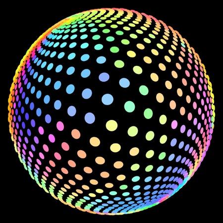 Illustration pour Multicolored globe illustration.   - image libre de droit