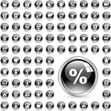Ilustración de Icon set for web. - Imagen libre de derechos