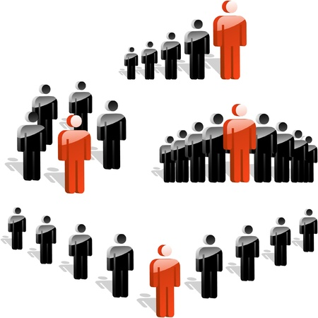 LEADER. Business concept. Vector illustration.