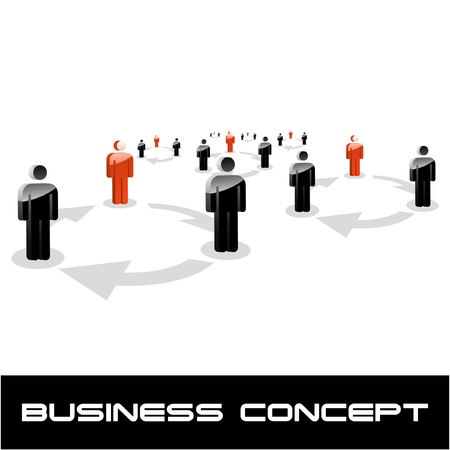 COMMUNICATION. Business concept. Vector illustration.