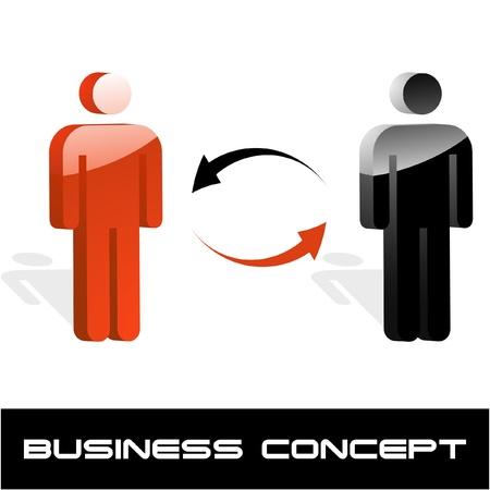 Communication business concept. Vector illustration.