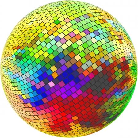 Globe. Abstract illustration.