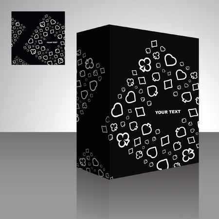 Abstract packaging box. Vector illustration of card symbolic.