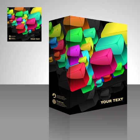 Vector packaging box. Abstract illustration.  のイラスト素材