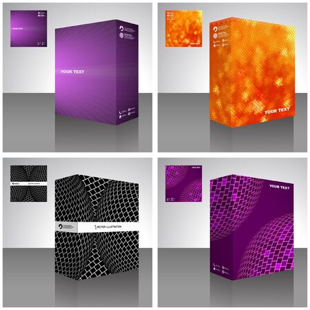 packaging box. Abstract illustration.