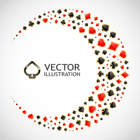 Vector gambling composition  Abstract background