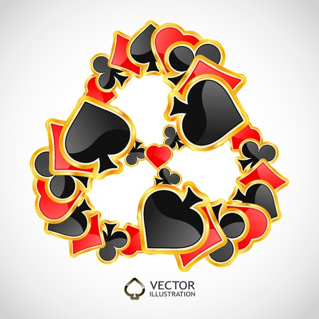 gambling composition  Abstract illustration