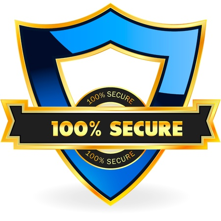 100% SECURE. Vector illustration.