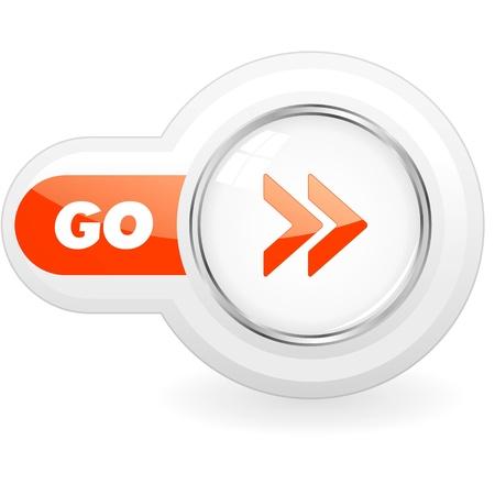 Illustration pour GO icon. - image libre de droit