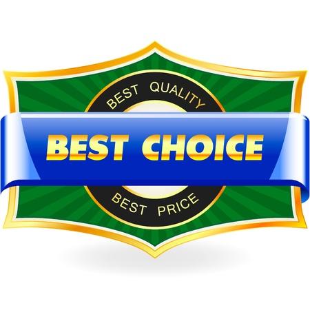 Illustration pour BEST CHOICE. Sale label. - image libre de droit