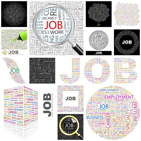 JOB. Concept illustration. GREAT COLLECTION.