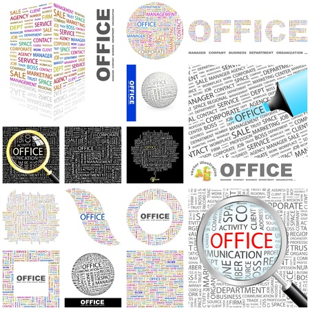 OFFICE  Word collage  GREAT COLLECTION