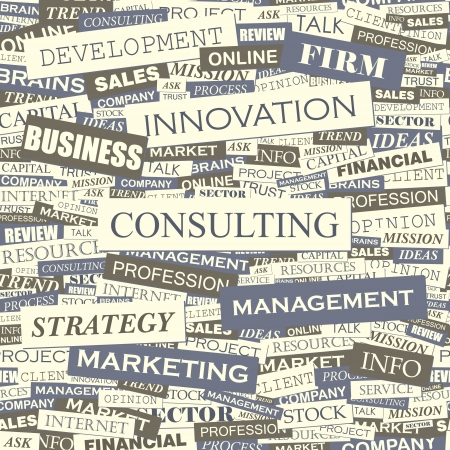 CONSULTING  Word collage  Seamless vector pattern