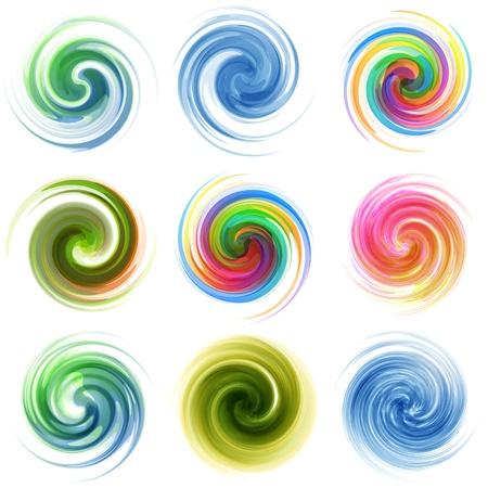 Swirl elementsfor design  Vector illustration