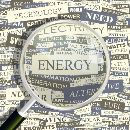 ENERGY  Word collage  Seamless pattern
