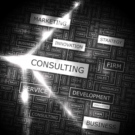 CONSULTING  Word collage