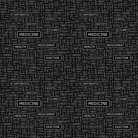 MEDICINE  Seamless vector pattern