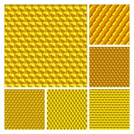 Golden seamless background