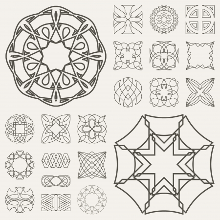 Collection of different graphic elements for design