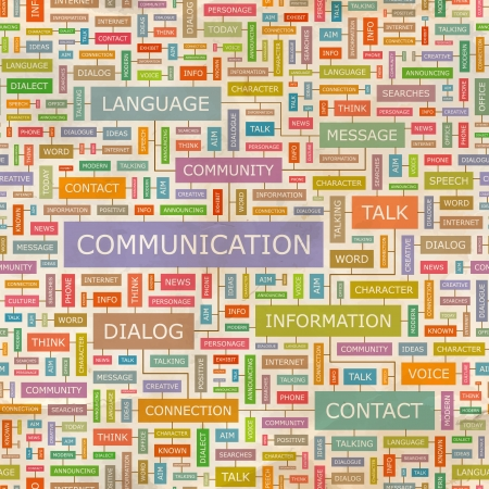 Photo for COMMUNICATION  Word collage  Seamless pattern  - Royalty Free Image