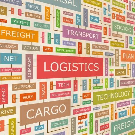 Illustration pour LOGISTICS  Word collage - image libre de droit