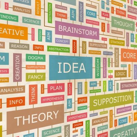Illustration pour IDEA  Word collage - image libre de droit