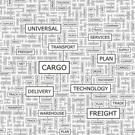 CARGO  Word cloud concept illustration