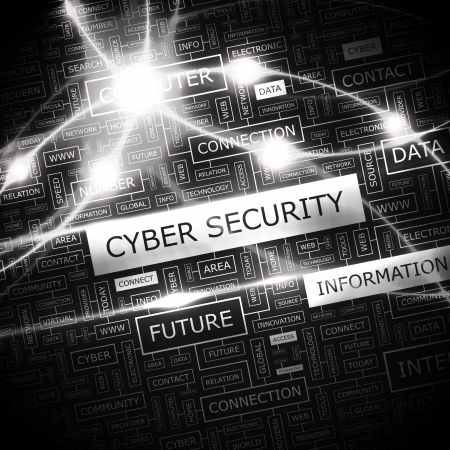 CYBER SECURITY  Word cloud concept illustration