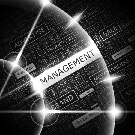 MANAGEMENT  Word cloud concept illustration